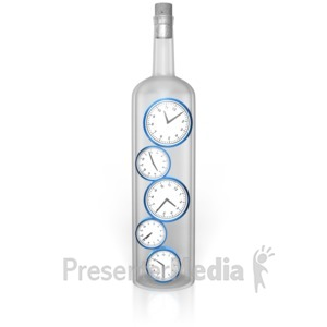 ID# 10249 - Time In A Bottle - Presentation Clipart
