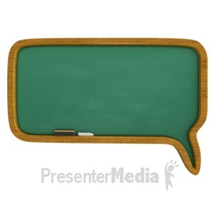 ID# 10250 - Chalkboard Call Out Bubble - Presentation Clipart