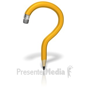 ID# 10259 - Pencil Question Mark - Presentation Clipart