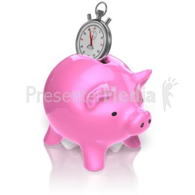 Piggy Bank Time PowerPoint Clip Art