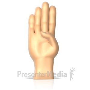 ID# 10268 - Sign Language letter B - Presentation Clipart