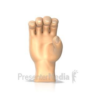 ID# 10269 - Sign Language letter C - Presentation Clipart
