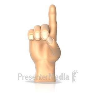 ID# 10270 - Sign Language Letter D - Presentation Clipart