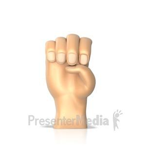 ID# 10271 - Sign Language Letter E - Presentation Clipart