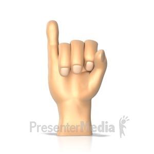 ID# 10275 - Sign Language Letter i - Presentation Clipart