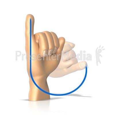 Sign Language Letter J PowerPoint Clip Art