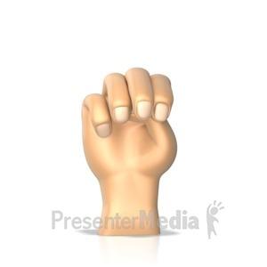 ID# 10281 - Sign Language Letter M - Presentation Clipart