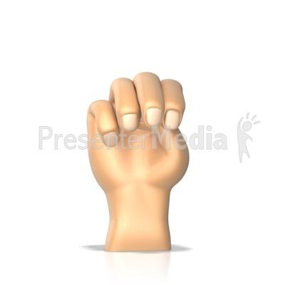 Sign Language Letter M PowerPoint Clip Art