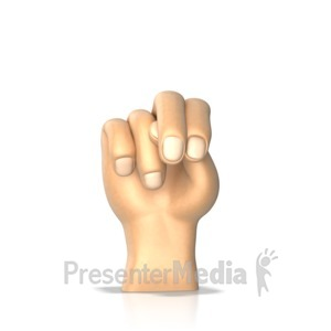 ID# 10282 - Sign Language Letter N - Presentation Clipart