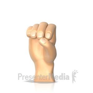 ID# 10283 - Sign Language Letter O - Presentation Clipart