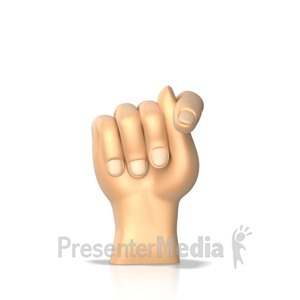 ID# 10288 - Sign Language Letter T - Presentation Clipart