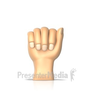 ID# 10297 - Sign Language Letter A - Presentation Clipart