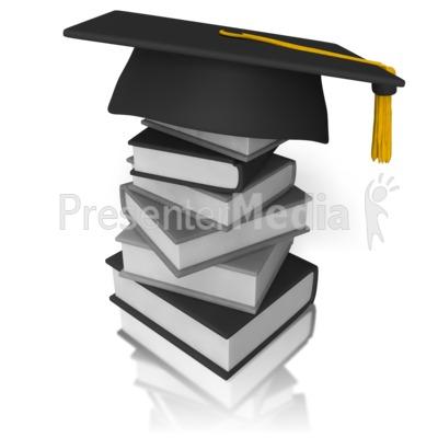 Graduation Books PowerPoint Clip Art