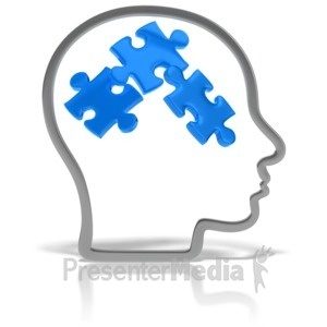 ID# 10307 - Head Outline Puzzle - Presentation Clipart