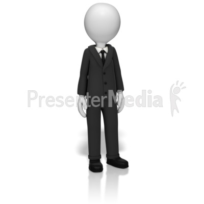 Businessman Standing PowerPoint Clip Art