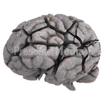 Brain Fractured PowerPoint Clip Art