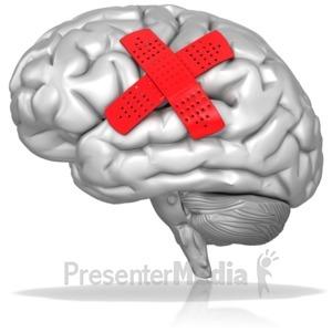ID# 10344 - Bandaged Brain - Presentation Clipart