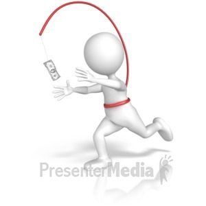 ID# 10349 - Endless Money Chase - Presentation Clipart