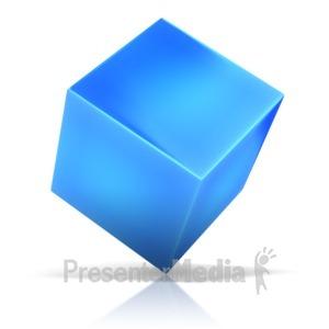 ID# 10351 - Cube Standing On Corner - Presentation Clipart