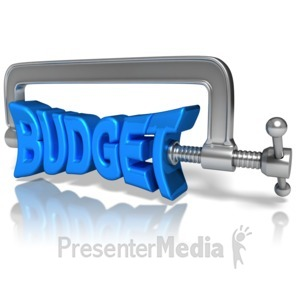 ID# 10360 - Budget Squeeze - Presentation Clipart