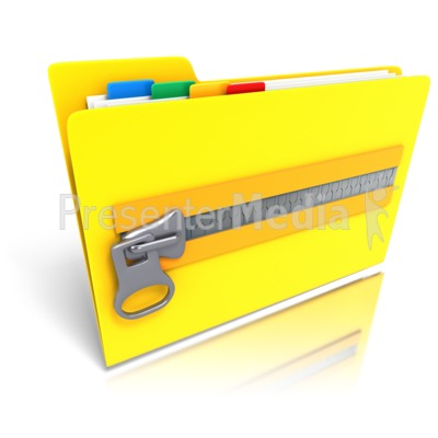 Folder Files Zipped Up - Presentation Clipart - Great Clipart for ...