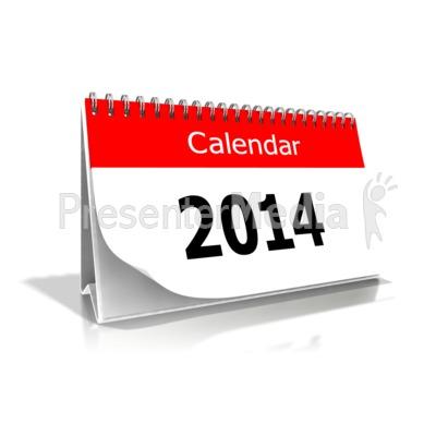 2014 Desk Calendar - Presentation Clipart - Great Clipart for ...