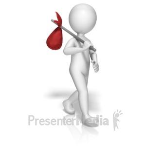 ID# 10427 - Stick Figure Hobo - Presentation Clipart
