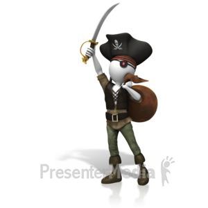 ID# 10523 - Pirate Stolen Plunder - Presentation Clipart