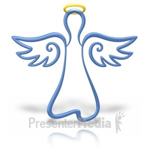 ID# 10640 - Angel Halo Outline - Presentation Clipart