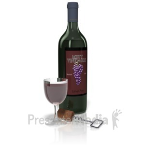 ID# 10688 - Wine And Glass Set - Presentation Clipart