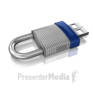 ID# 10773 - USB Locked and Secured - Presentation Clipart