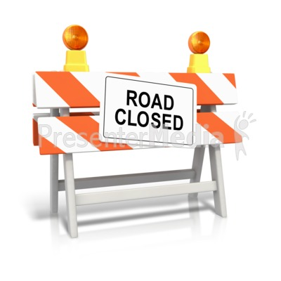 Road Closed Sign PowerPoint Clip Art