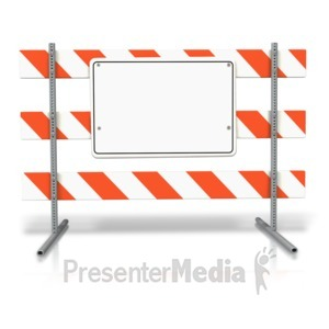 ID# 10781 - Stand Up Road Sign Blank - Presentation Clipart