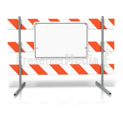 Stand Up Road Sign Blank PowerPoint Clip Art
