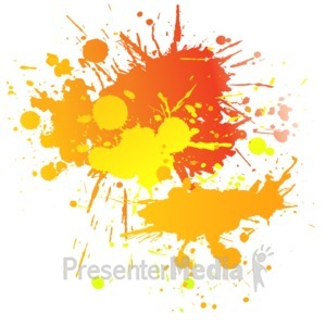 ID# 10815 - Painting Splatter Complimentary - Presentation Clipart
