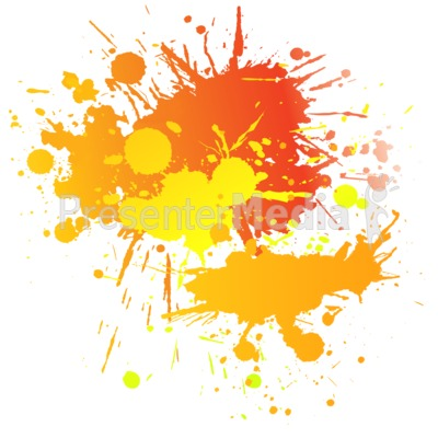 Painting Splatter Complimentary PowerPoint Clip Art