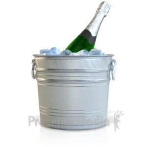 ID# 10816 - Champagne In Bucket - Presentation Clipart