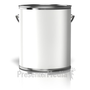 ID# 10826 - Paint Can Blank Label - Presentation Clipart
