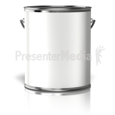 Paint Can Blank Label PowerPoint Clip Art