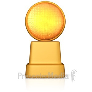 ID# 10829 - Caution Road Sign Light - Presentation Clipart