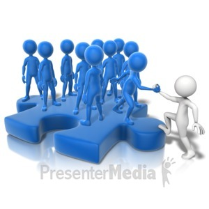 ID# 10889 - Join The Puzzle Crowd - Presentation Clipart