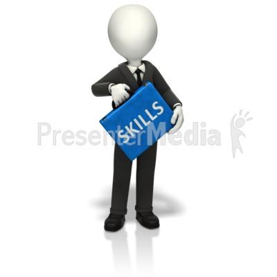 Businessman Skills Briefcase PowerPoint Clip Art