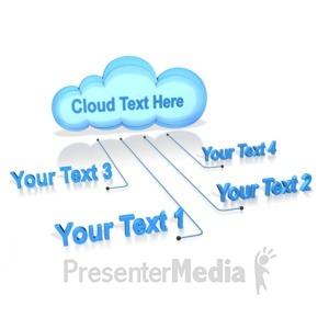 ID# 10908 - Text Connected To Cloud - Presentation Clipart