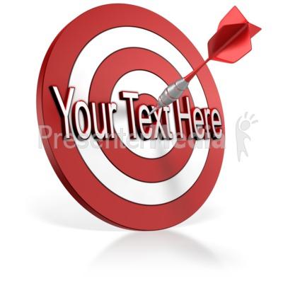 Bullseye Dart Text PowerPoint Clip Art