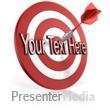 ID# 10918 - Bullseye Dart Text - Presentation Clipart
