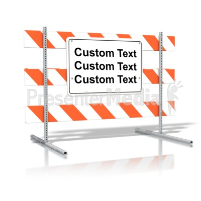 Standing Road Sign Blank Text PowerPoint Clip Art