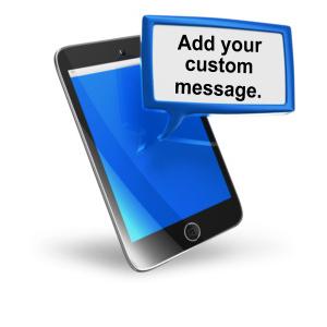 ID# 10927 - Smart Phone Texting Block Text - Presentation Clipart