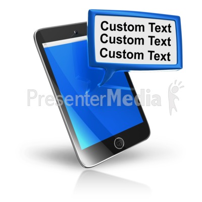 Smart Phone Texting Block Text PowerPoint Clip Art