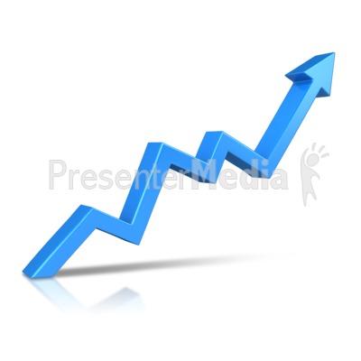 Arrow Climbing Upward PowerPoint Clip Art