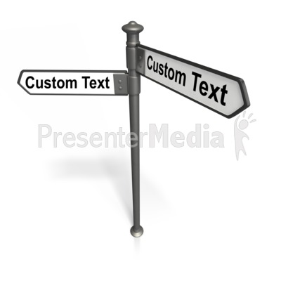 Black Street Sign Text  PowerPoint Clip Art